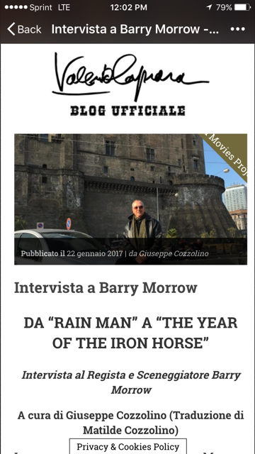 Barry Morrow Year of the Iron Horse